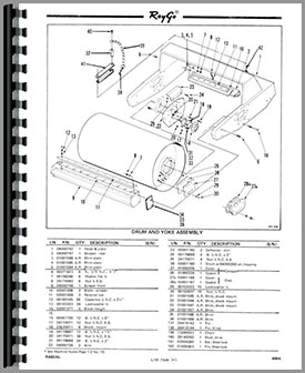 Caterpillar 600A Raygo Rascal Roller Parts Manual
