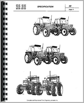 Fiat 70-90 Tractor Service Manual