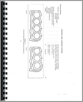 Ford 2000 Tractor Data Service Manual