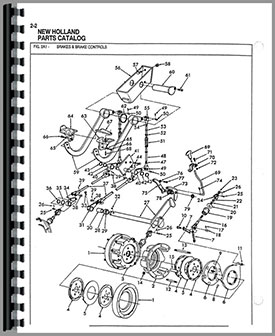 Ford 550 Tractor Loader Backhoe Parts Manual