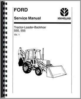 Ford 555 Tractor Loader Backhoe Service Manual