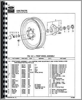 Ford 8600 tractor manual