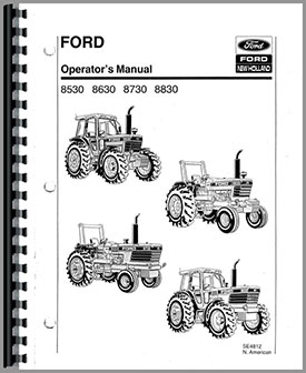 Ford 8630 Tractor Operators Manual