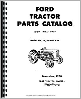 Ford 8N Tractor Parts Manual