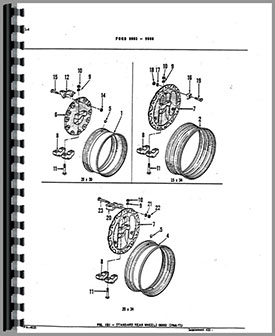 Ford 9700 Tractor Parts Manual