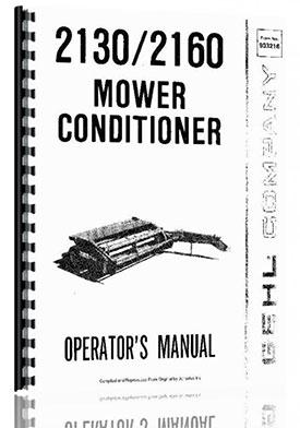 Gehl 2160 Mower Conditioner Operators Manual