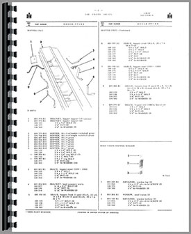 International Harvester 100 Grain Drill Parts Manual