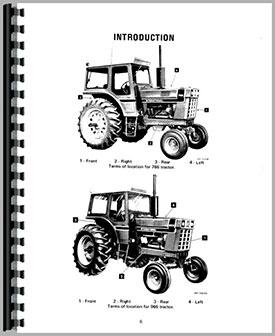 Farmall 1066 Tractor Operators Manual