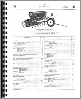 International Harvester 150 Grain Drill Parts Manual
