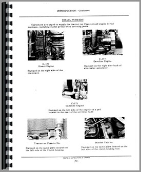 International Harvester 2400 Industrial Tractor Parts Manual