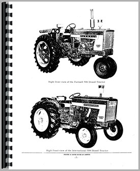 International Harvester 2504 Industrial Tractor Parts Manual