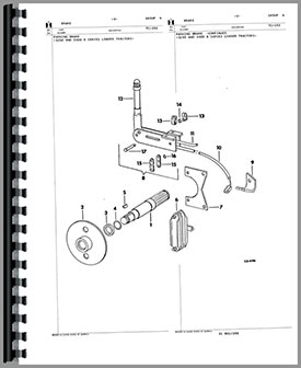 International Harvester 3300B Skid Steer Parts Manual