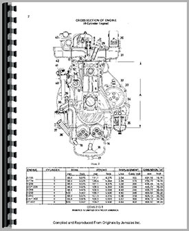 International Harvester 3400A Industrial Tractor Engine