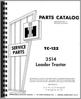International Harvester 3514 Industrial Tractor Parts Manual