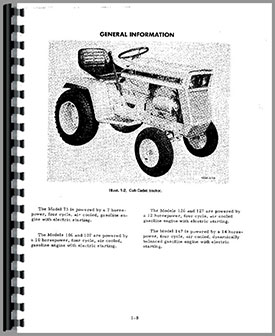 International Harvester Cub Cadet 147 Lawn & Garden