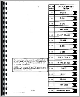 International Harvester DT466 Engine Parts Manual