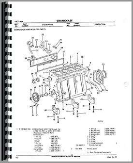 International Harvester TD8E Crawler Engine Parts Manual