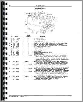 John Deere 1830 Tractor Parts Manual