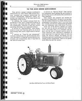 John Deere 3010 Tractor Service Manual