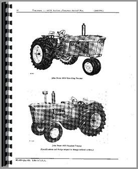 John Deere 4020 Tractor Parts Manual
