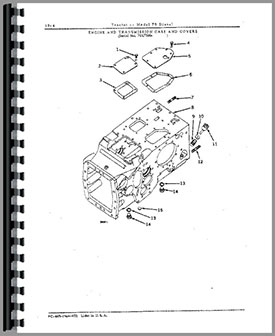 John Deere 70 Tractor Parts Manual