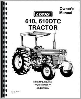 Long 610 Tractor Operators Manual