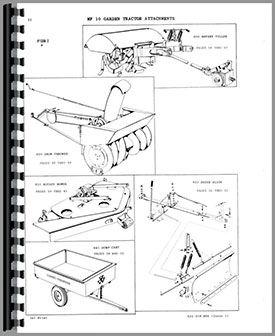 Massey Ferguson 10 Lawn & Garden Tractor Parts Manual