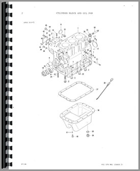 Massey Ferguson 1030-L Tractor Parts Manual