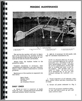 Massey Ferguson 220 Backhoe Attachment Operators Manual