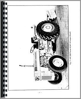 Massey Ferguson 2200 Industrial Tractor Operators Manual