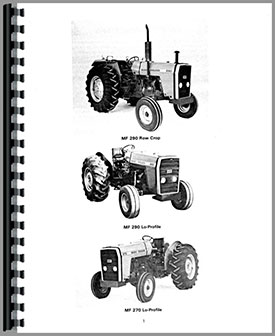 Massey Ferguson 290 Tractor Operators Manual