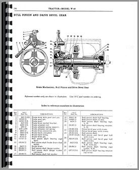 Mccormick Deering WK40 Tractor Parts Manual