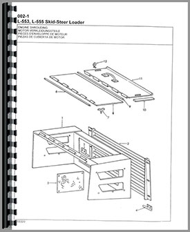 New Holland L553 Skid Steer Parts Manual