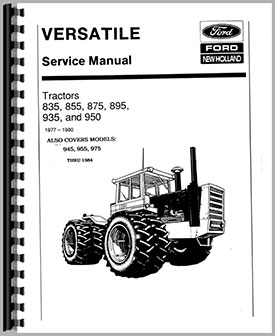 Versatile 975 Tractor Service Manual