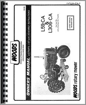 Woods L59 Mower Attachment Operators Manual