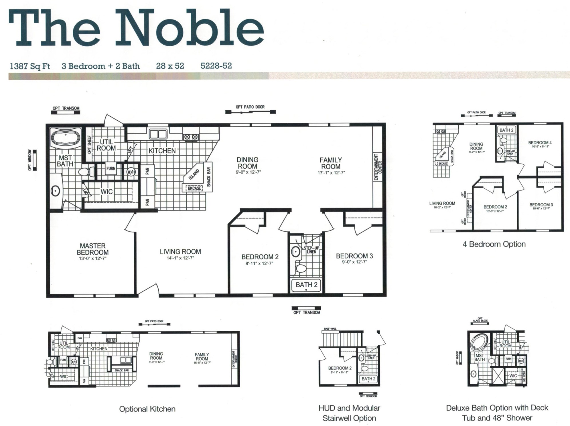 Wide 2 Double Bedroom Floor Plans