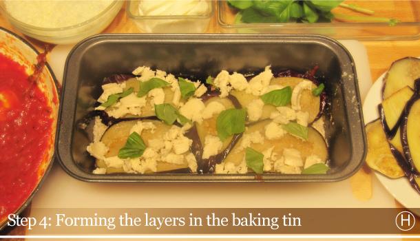 Parmigiana di Melanzane - Aubergine Parmigiana Pie - How to - step 4H