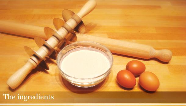 Homemade fresh pasta - the ingredients
