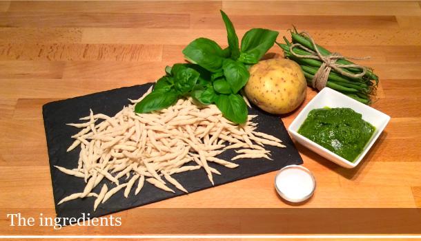 Trofie with Pesto sauce - Trofie al pesto