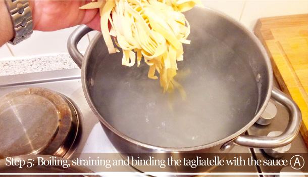 """Tagliatelle with Red Radicchio of Treviso"" recipe"