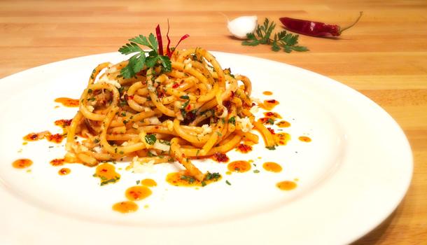 """""""Bucatini with spicy Nduja"""" recipe"""