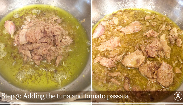 """Pasta with Spicy Tuna Sauce"" recipe - ""Calamarata al Tonno"""
