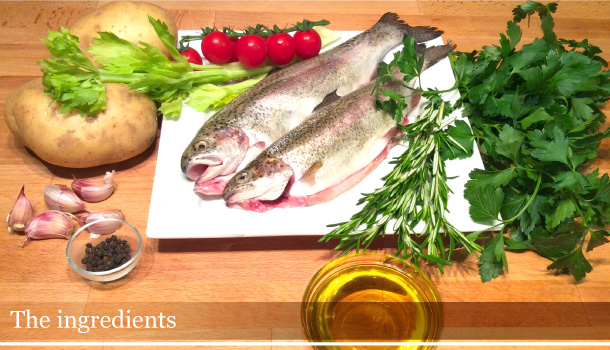 """Trouts and Potatoes Parcel"" - ""Trote al Cartoccio con Patate"""