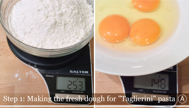 """Taglierini pasta with San Daniele Ham and Poppy Seeds Sauce"" recipe"