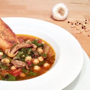 """Ligurian Chickpeas Zimino Soup"" vegan recipe - ""Zimino di Ceci alla Ligure"""