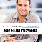 ACCA F4 LSBF STUDY MATERIAL ACCAGLOBALWALL.COM