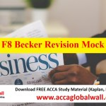 ACCA F8 Becker Revision Mock 2017