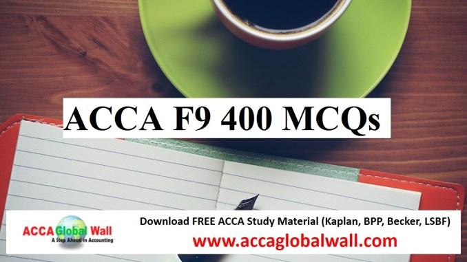 ACCA F9 400 MCQs