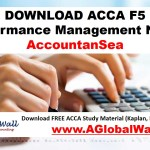 ACCA F5 Performance Management Notes 2018-2019