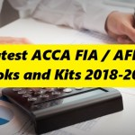 Latest ACCA FIA / AFD Books and Kits 2018-2019